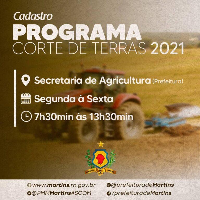 Programa corte de terras 2021