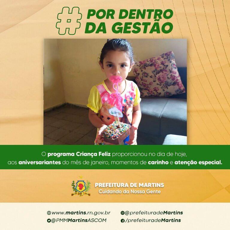 Programa Criança Feliz realiza ação aos aniversariantes do mês de janeiro