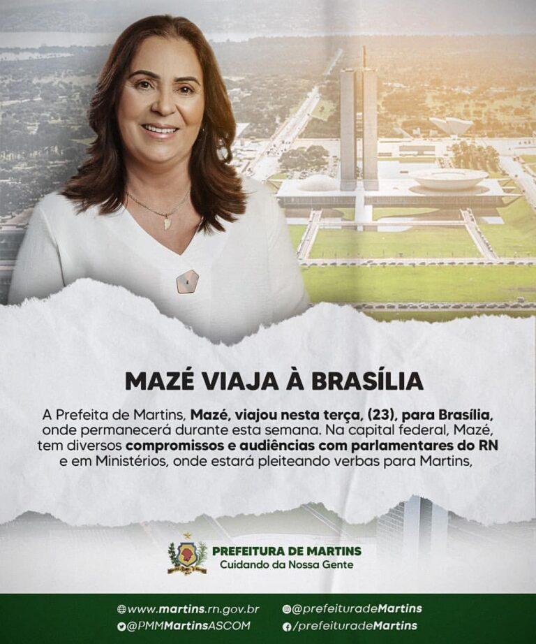 Viagem da Prefeita Mazé à Brasília