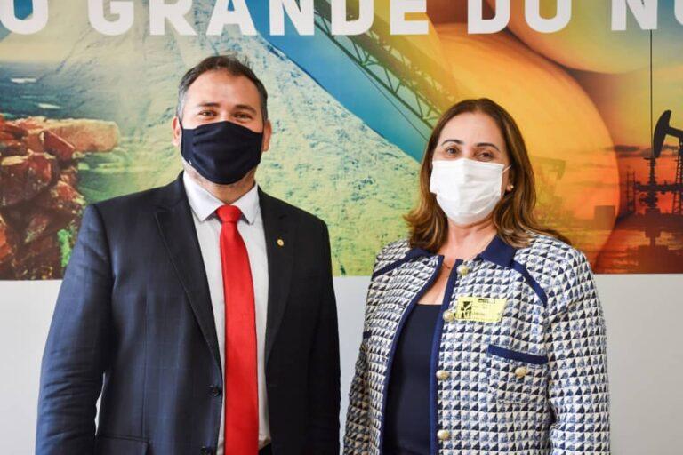 Prefeita é recebida pelo Deputado Federal do RN, Beto Rosado