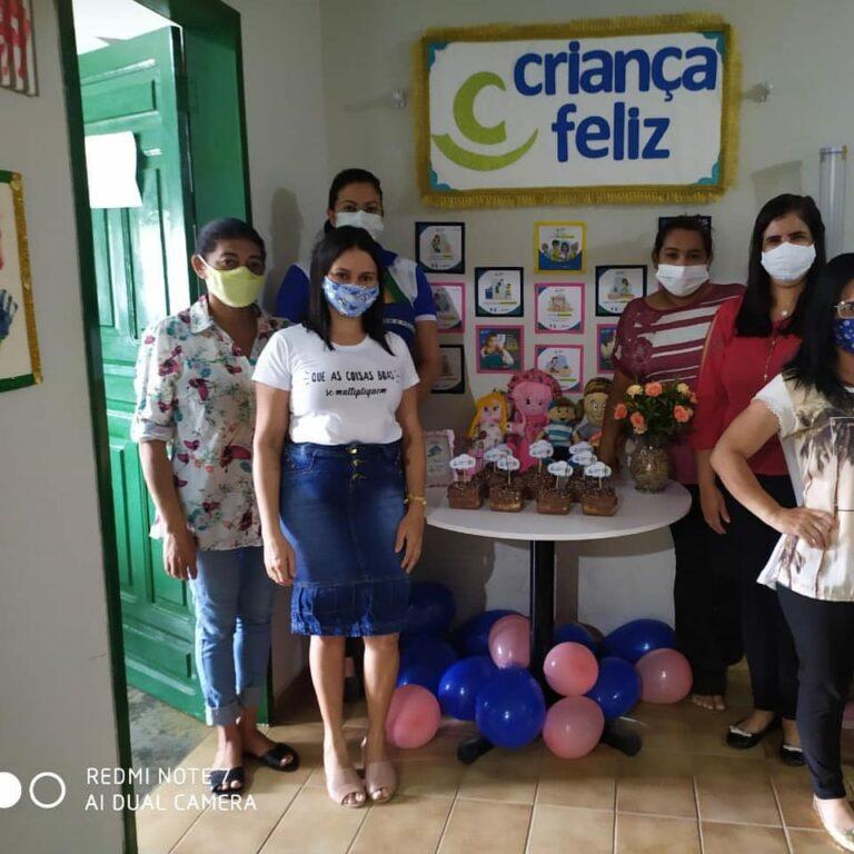 Ação de comemoração dos aniversários das crianças do Programa Criança Feliz