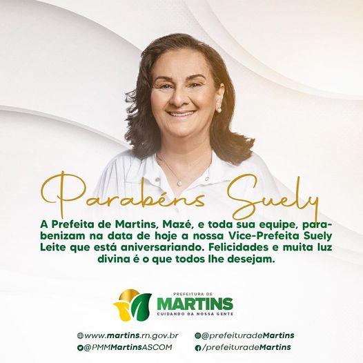 Parabéns Vice-Prefeita, Suely