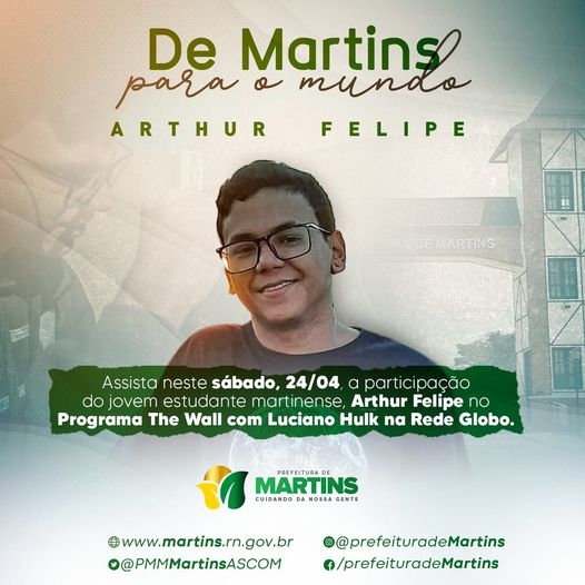 Read more about the article De Martins para o mundo: Arthur Felipe