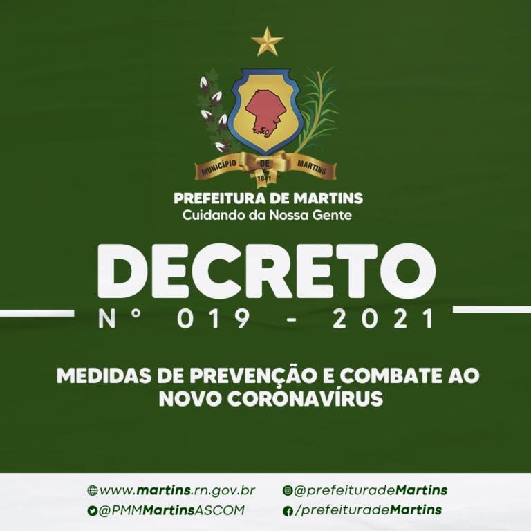 Read more about the article DECRETO N.º 019, DE 15 DE ABRIL DE 2021.