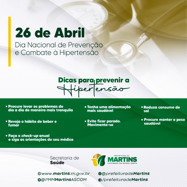 Dia Nacional de Prevenção e Combate a Hipertensão
