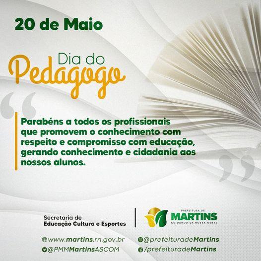 Read more about the article 20 DE MAIO – DIA DO PEDAGOGOO