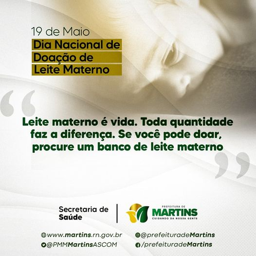 19 de Maio – Dia Nacional de doação do Leite Materno