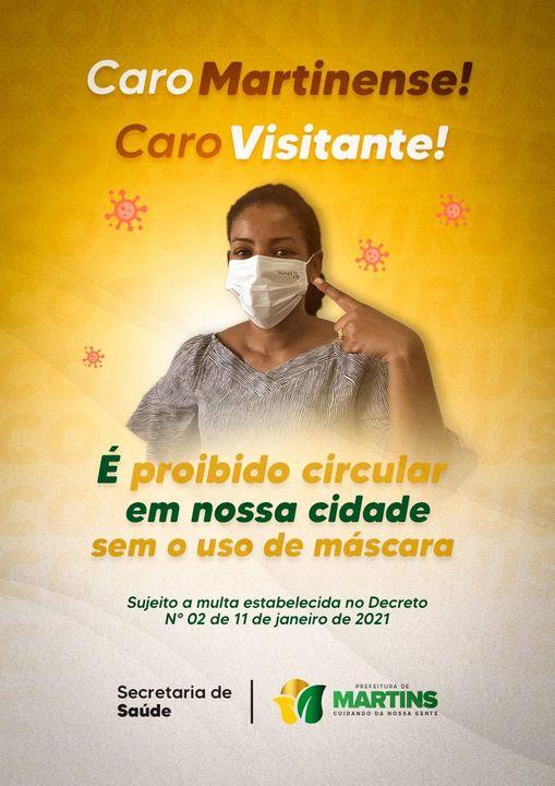 Caro Martinense, Caro Visitante, use máscara!
