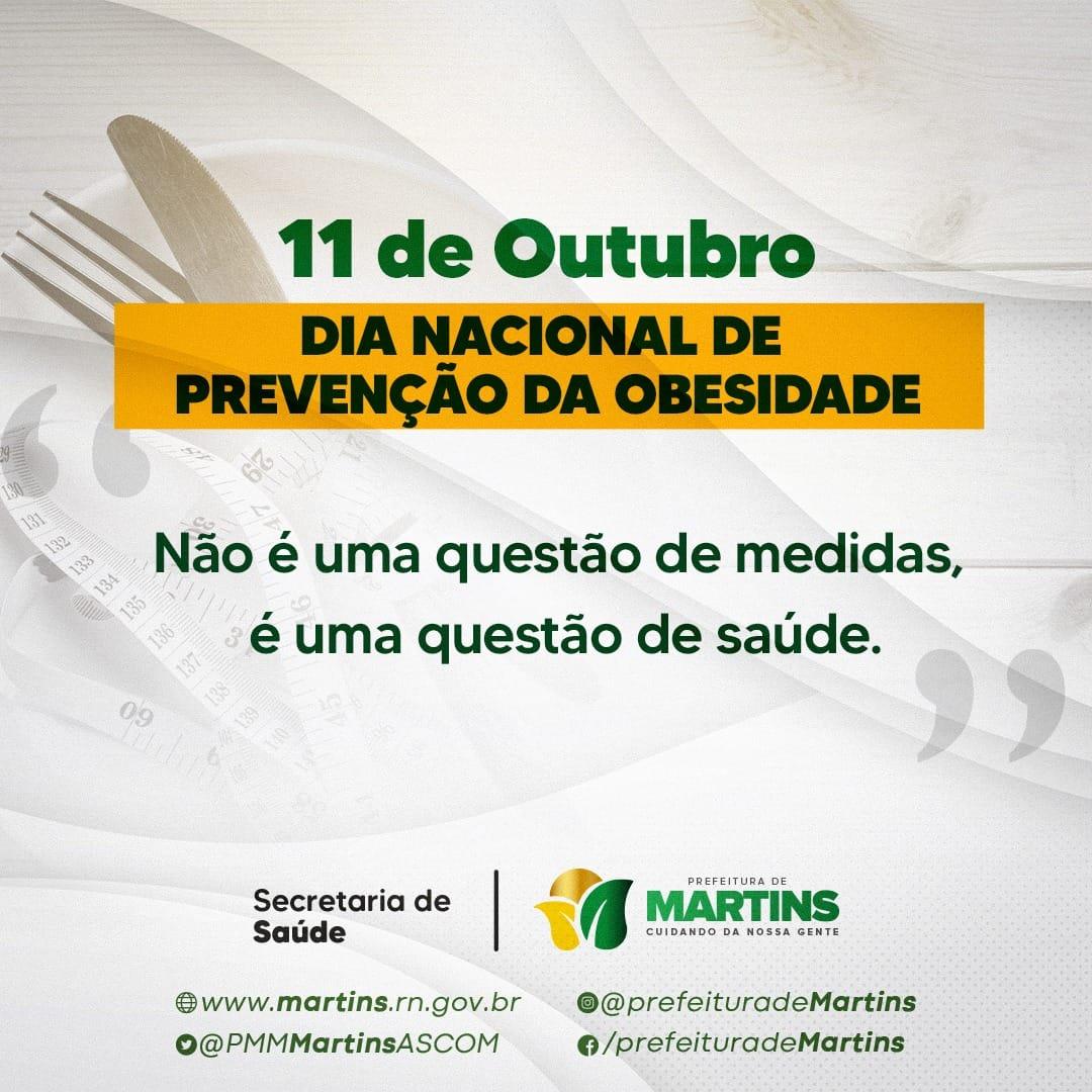 11 de Outubro – Dia internacional de prevenção da obesidade